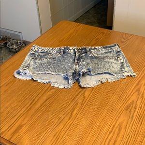 Wildfox Friday Night Shorts.  Size 30.  Light Acid